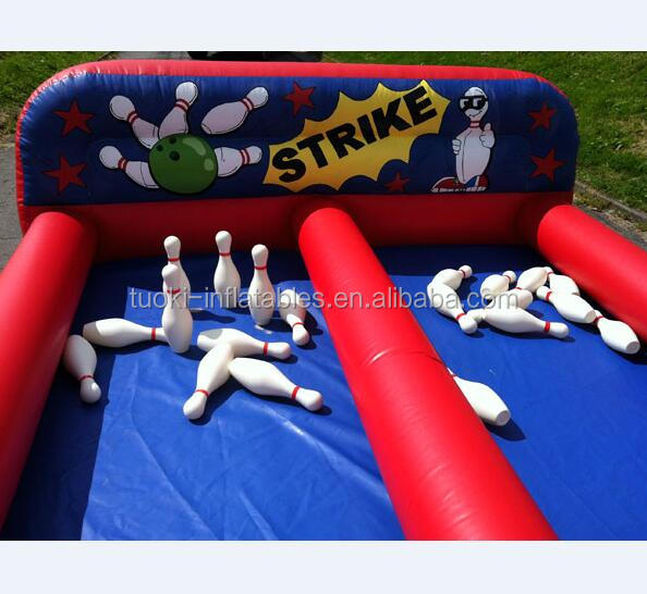 inflatable bowling alley skittles game for hire