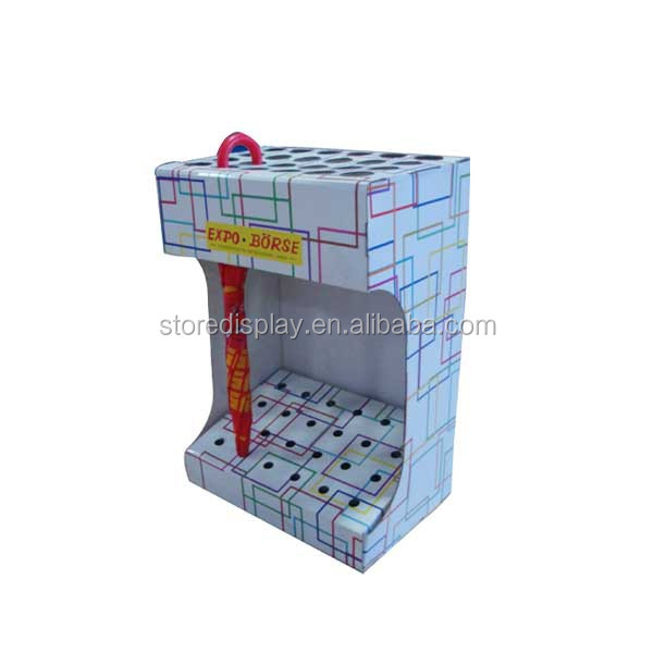 Point of purchase display stand for umbrella advertising from China supplier