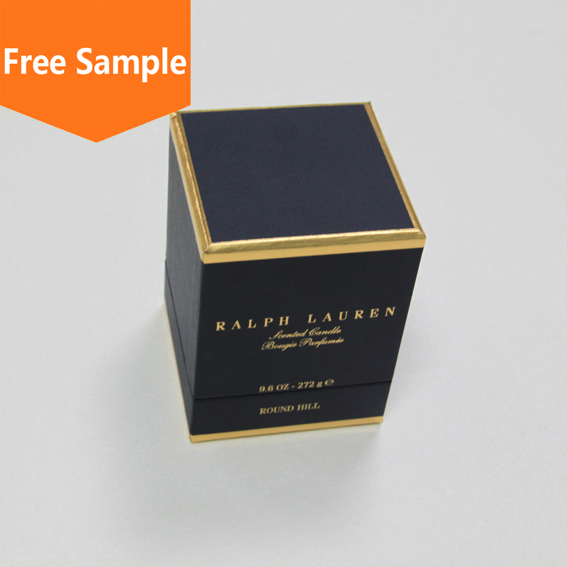 2016 wholesale paper candle box , custom design candle packaging box