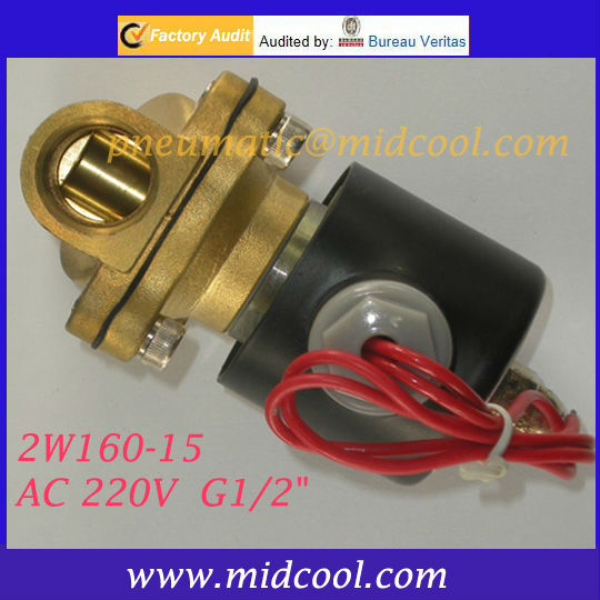 2 position 2 way 2W160-10 24v DC,Normally closed electric Solenoid Valve for <strong>water</strong>