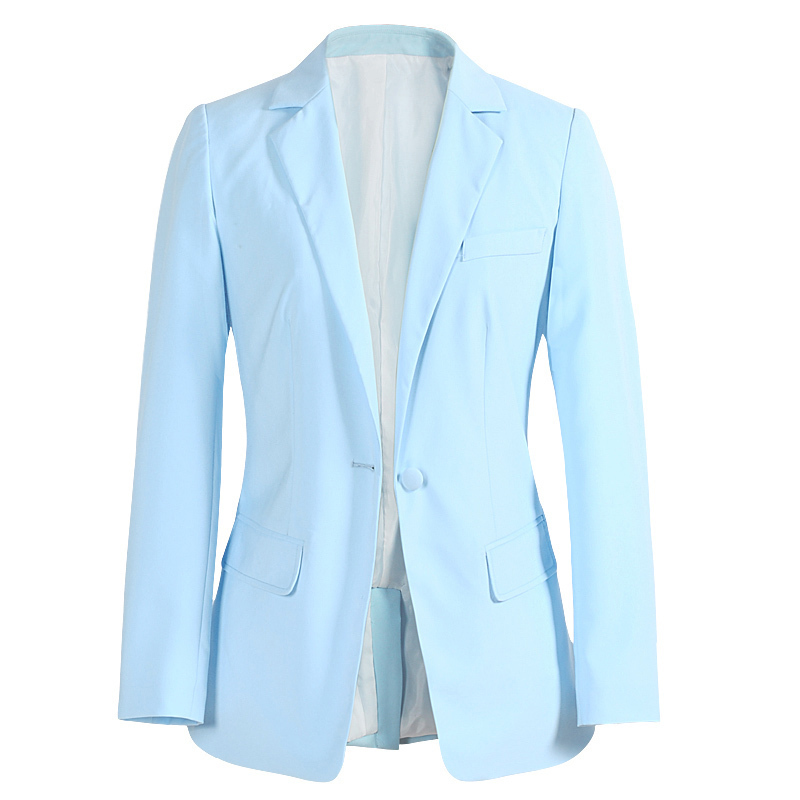 Womens Pale Blue Blazer - Hardon Clothes