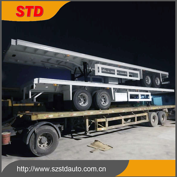 2 axles 40ft flatbed semi trailer made in China