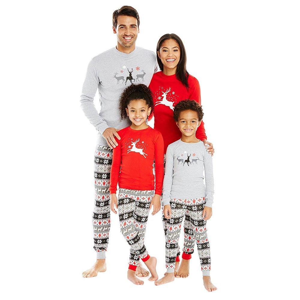 Get Quotations · Christmas Pajamas - Family Matching Pajamas Sets Flying  Reindeer Christmas Pjs Cotton Pajama Sets 428ccb1c8