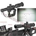 New SVD Dragunov 4X26E AK Rifle Scope Red Illuminated For Tactical Hunting Airsoft Shooting