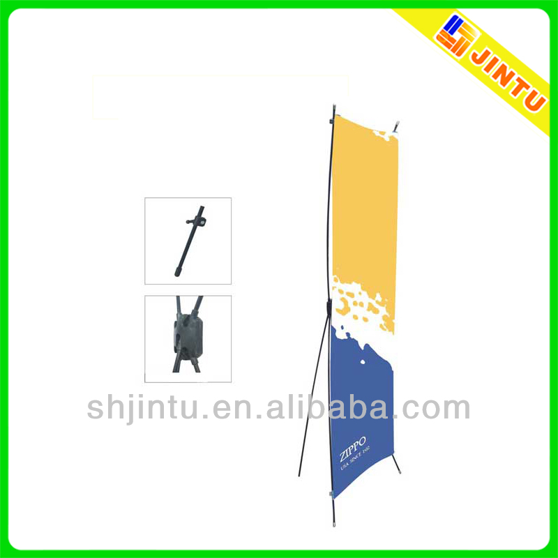 Plastic x banner advertising display stand