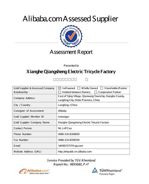ali assessed supplier