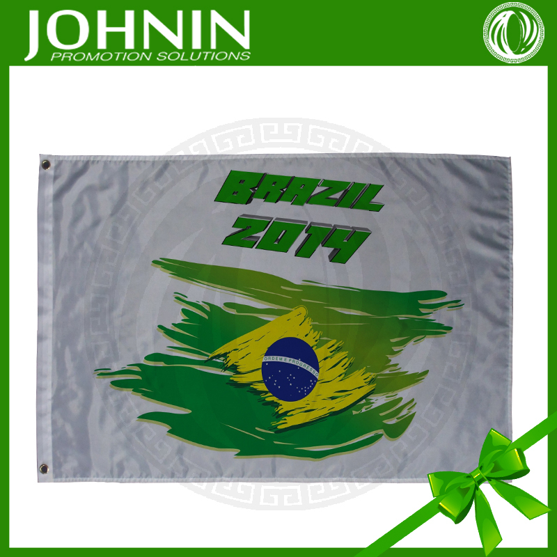 sports fans use best selling fast produce polyester customized cheap price football sport brazil advertising flag