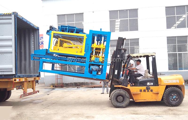 QT6-15 fully automatic concrete hollow block making machine hydraulic press