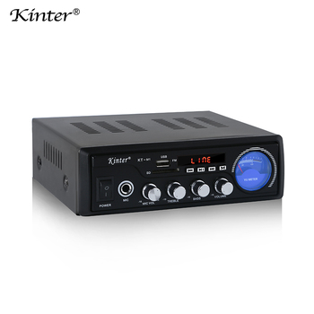 Kinter M1 power home audio amplifier with USB/SD/FM/MIC/MP3/BT/digital display/level meter
