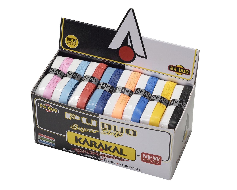 Duo Karakal Assorted Duo Colors Universal Pu Replacement Grip box Of 24