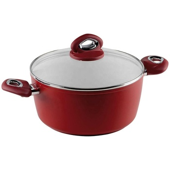 eco ceramic cookware set  healthy casserole with glass lid