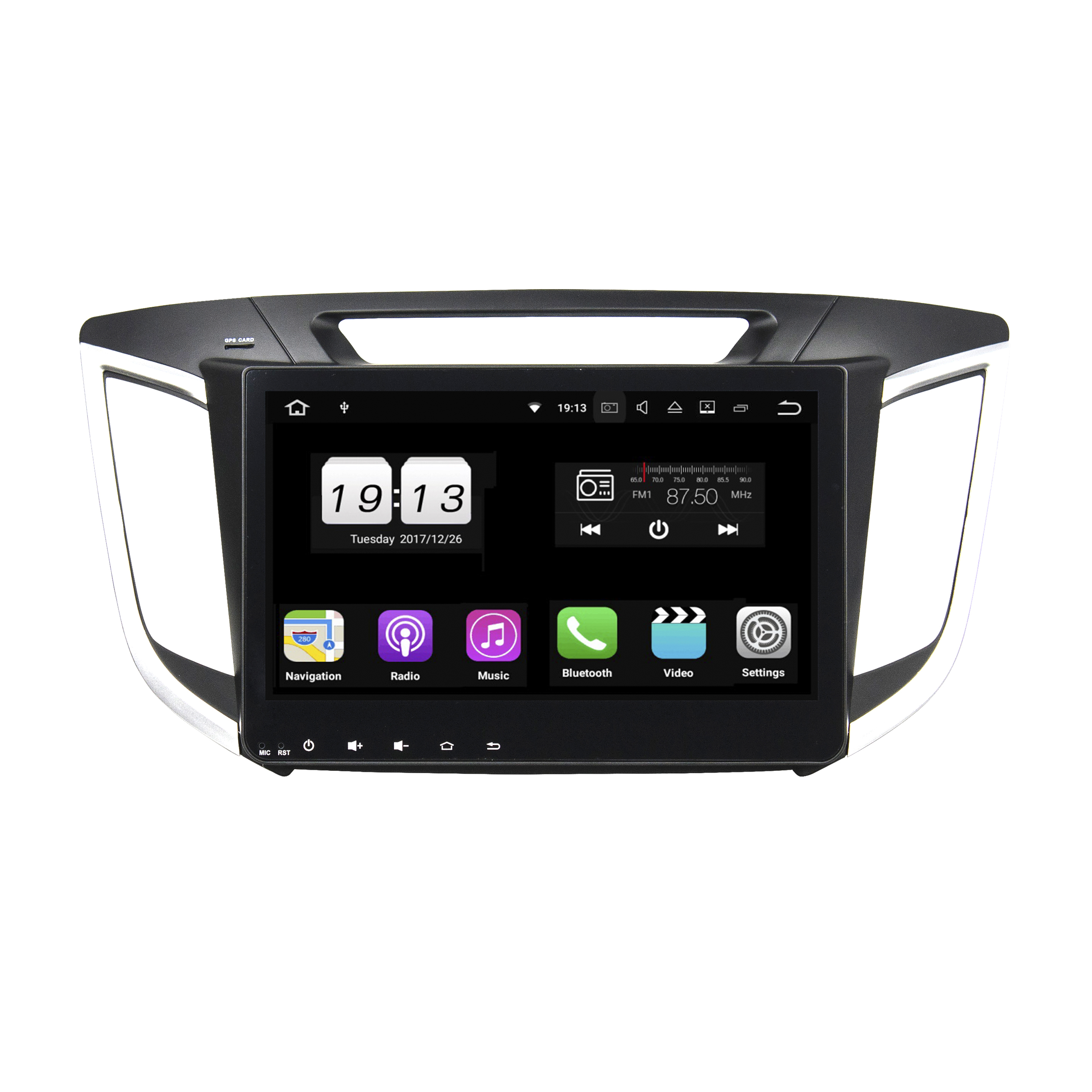 "10.1 ""Android 8.1 car DVD player car multimedia radio di navigazione GPS per HYUNDAI IX25 2014-2015 senza un disco"