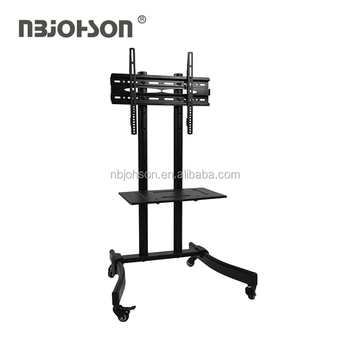 D960B mobile tv stand trolley bracket with wheels