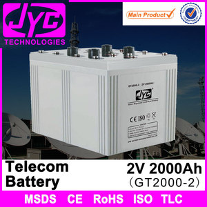 hot selling guangzhou company lead acid telecom battery 2v 2000ah