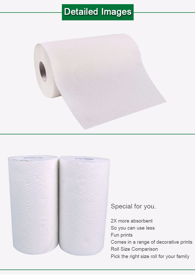 2 ply high absorbent flushable paper towels virgin pulp hemp paper