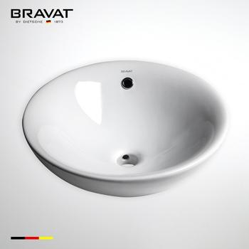 Unique Design Laboratory White Self Cleaning Glaze Ceramic Sink Bathroom  Sink C2220W