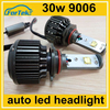 super white double sides led head lamp 30W for car 9006