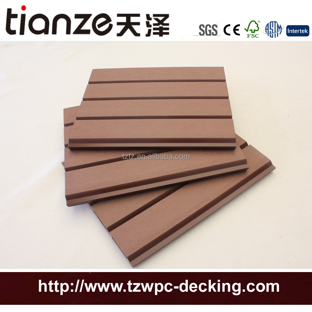 Waterproof anti-fade external anti-UV WPC wall cladding wood plastic composite WPC wall covering