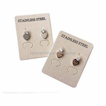 Oem Custom Printed Whole Cardboard Earring Cards