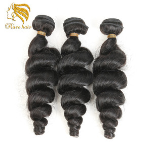 Ali express Luxurious Brazilian Loose Weave Hair Extensions, Customize Logo Own Name Brand Personal Label Hair In Pack