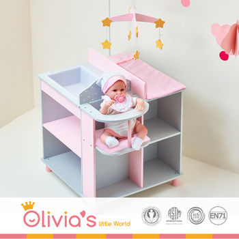 Olivia S Little World Baby Changing Station With Storage Grey Polka Dots Baby Doll Furniture Buy Doll Furniture For 18 Dolls Baby Changing