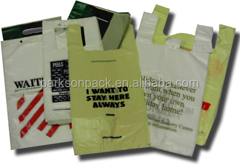 18 years hdpe plastic t-shirt bag for exporting