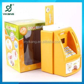 Abs Plastic Atm Piggy Bank Money Safe Box Chils Product On Alibaba