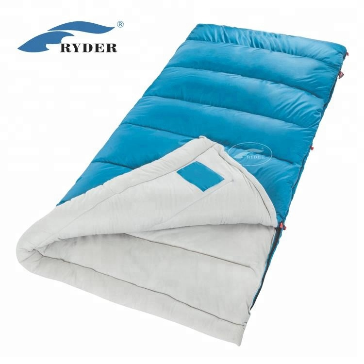 25522ead76 Camping Trekking Mateable Envelope Polyester Pongee Lining Waterproof  Indoor Adult Cotton Sleeping Bags Low Price High Quality