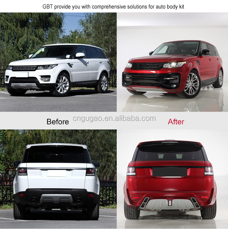 GBT front bumper headlight grille and led taillight for startech body kit for land rover range rover sport