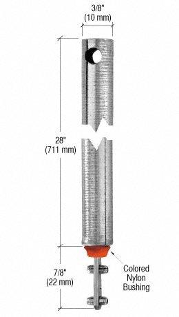 "C.R. LAURENCE FL2820 CRL 28"" Tubular Spiral Tilt Window Balance Red Bushing"