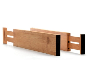 Bamboo Kitchen Expandable Drawer Divider Organizer
