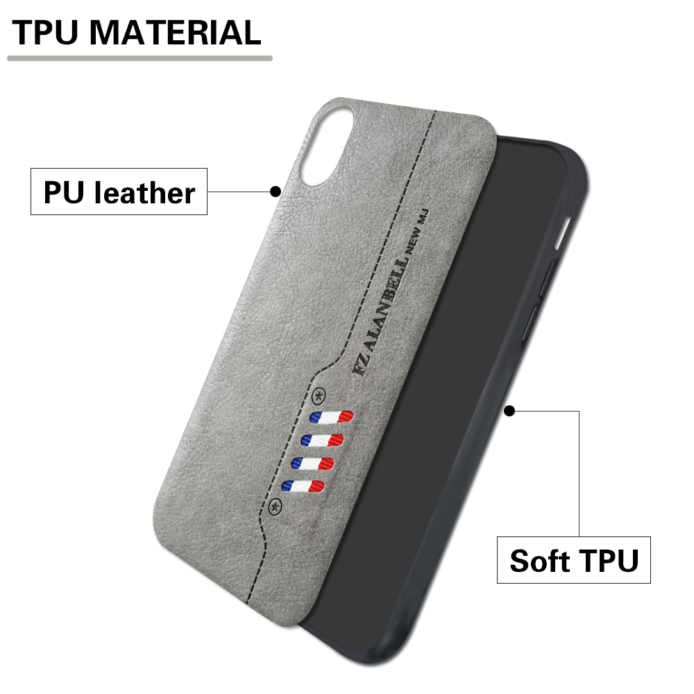 NEW MJ TPU Retro Leather Mobile Cell Phone Case Back Cover for iPhone for Samsung for tecno/infinix/itel/HTC Case Phone cover