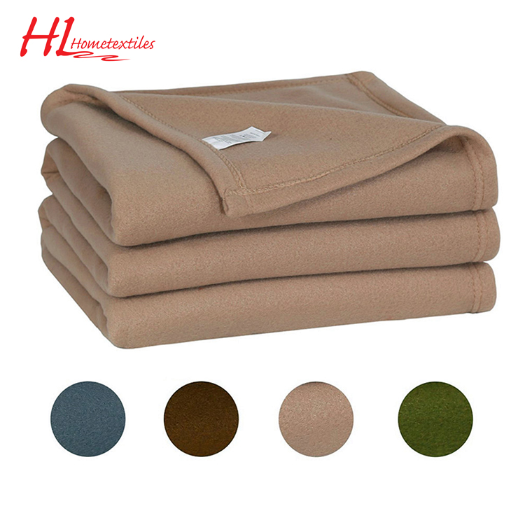100% polyester promotional double-side polar fleece blanke throw