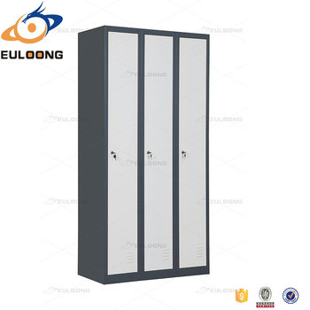 Modern Wooden Furniture Clothes Cabinet Design 3 Door Lockers For Gym