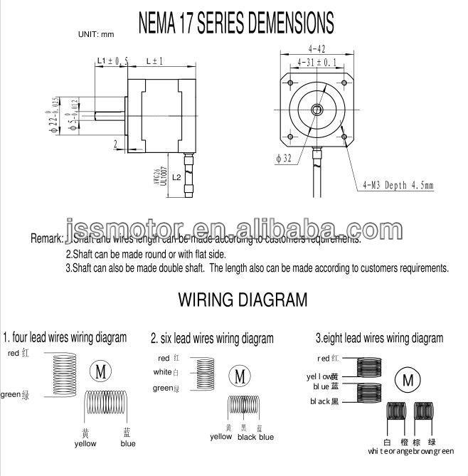 Nema17 Bipolar Stepper Motor 76 Oz-in For 3d Printer - Buy Nema 17 on
