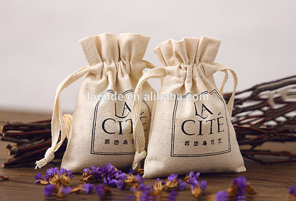 "4"" x 5.5"" cheap lavender sheer sachet packing bags with stamped logo"