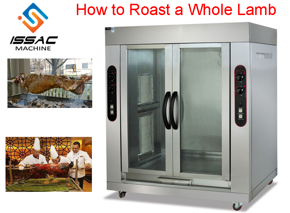 Stainless steel commercial 2 double-door vertical gas and roasted whole lamb baking oven of kitchen equipment