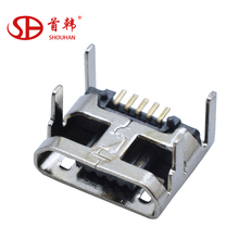 Micro USB Female 5 pin SMT Placement SMD DIP Socket Connector