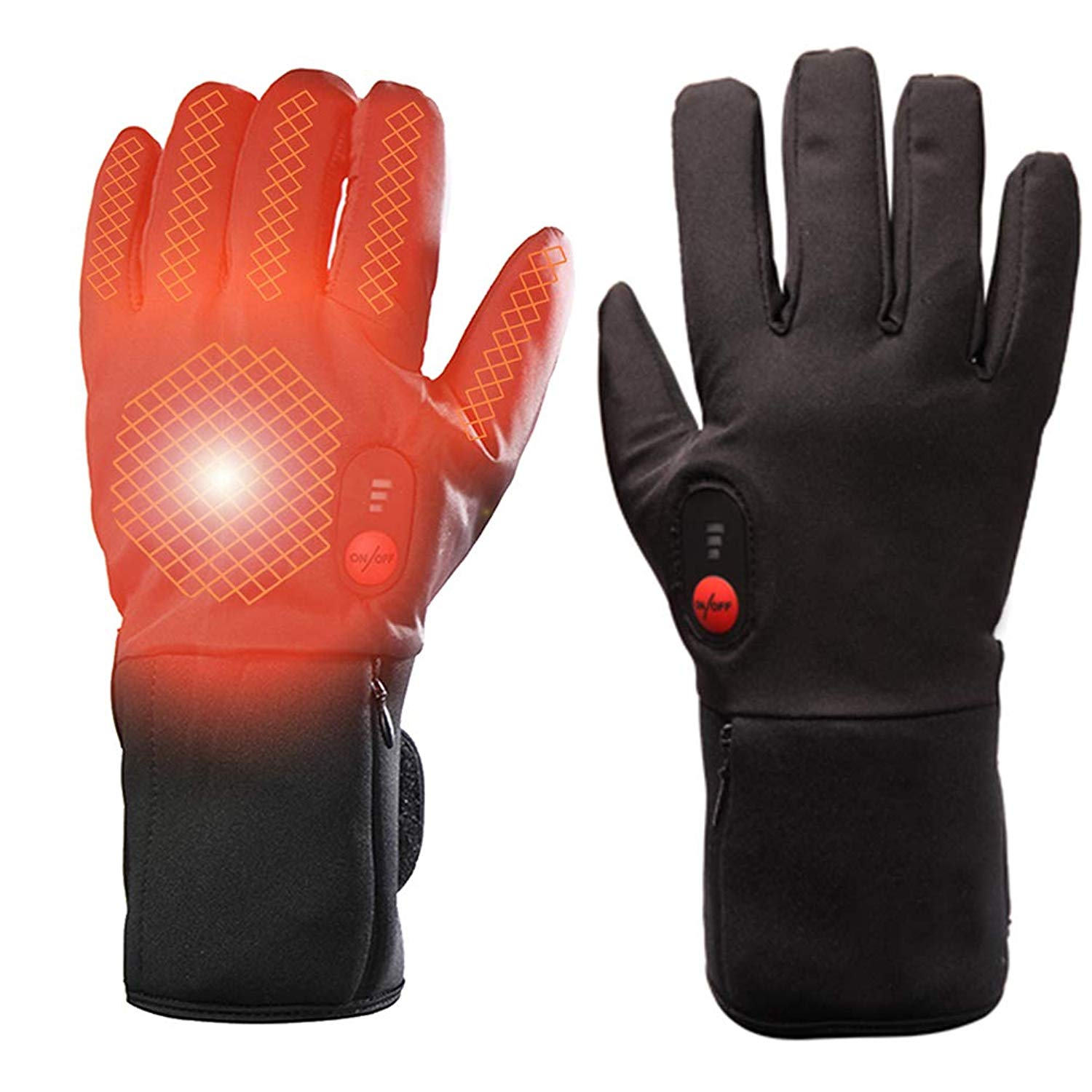 jannyshop USB Winter Warm Rechargeable Electric Battery Heated Gloves for Men and Women Outdoor Indoor battery powered Hand Warmer for Hiking Cycling Snowboarding US Plug