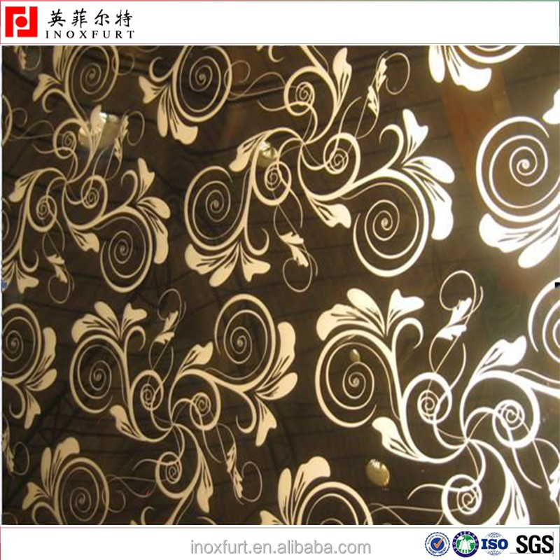 Cheap Price Flower Pattern Black Mirror Stainless Steel Sheet ...