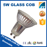 COB led spot factory price glass rohs ampoule led gu10