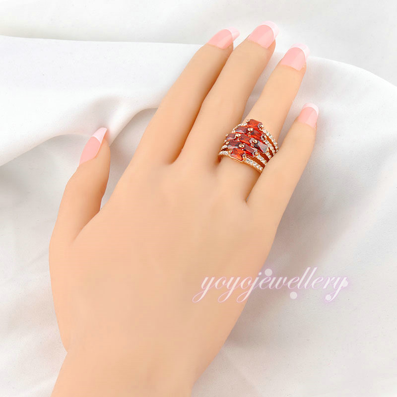 Red stone saidi gold jewelry fancy design dubai gold ring designs