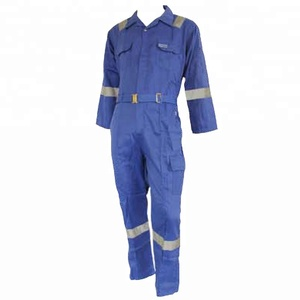 Royal blue reflective safety workwear