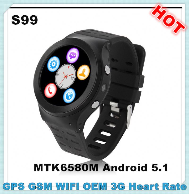 NEW S99 MTK6580M waterproof watch mobile phone for cell phone watch