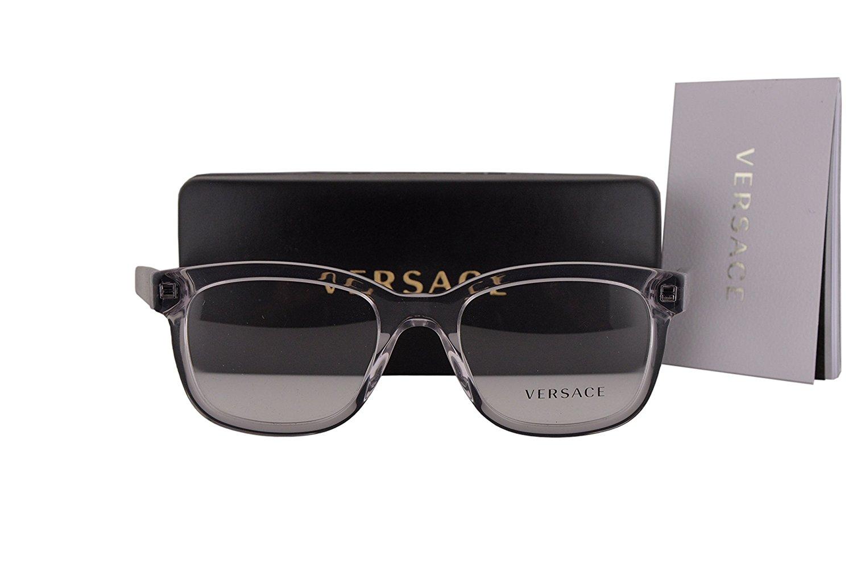 35b9a2791b Get Quotations · Versace VE3239 Eyeglasses 54-20-145 Transparent Gray  w Demo Clear Lens 593