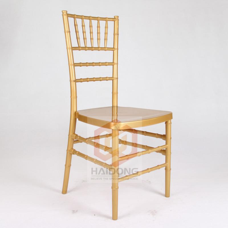 China Gold Color PC PP Resin Chiavari Chair Company