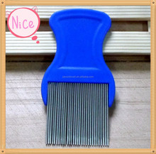 Hair combs factory long teeth plastic blue lice comb