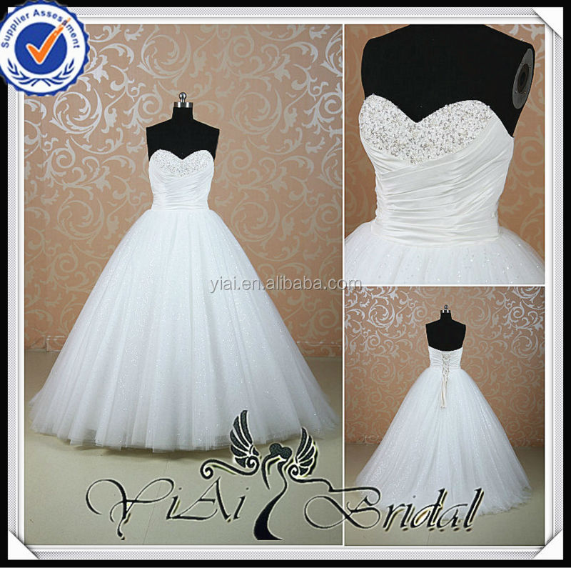 Rsw520 Puffy Princess Bling Ball Gown Wedding Dresses - Buy Ball ...