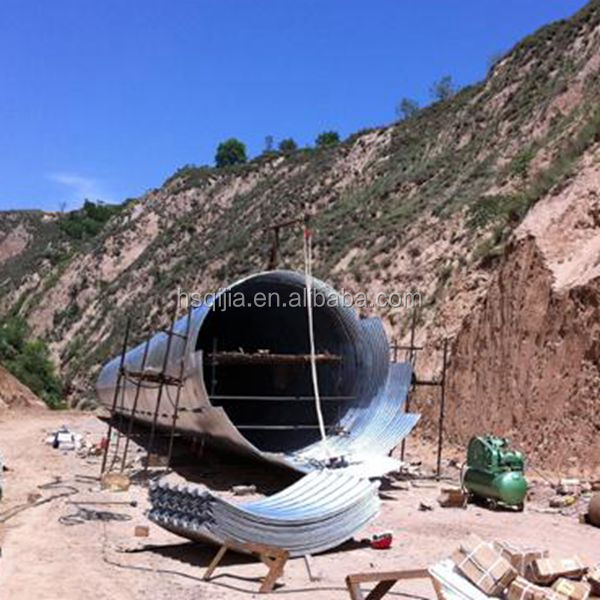 Galvanized Steel Pipe Road Culverts Tube9 Tunnel Liner