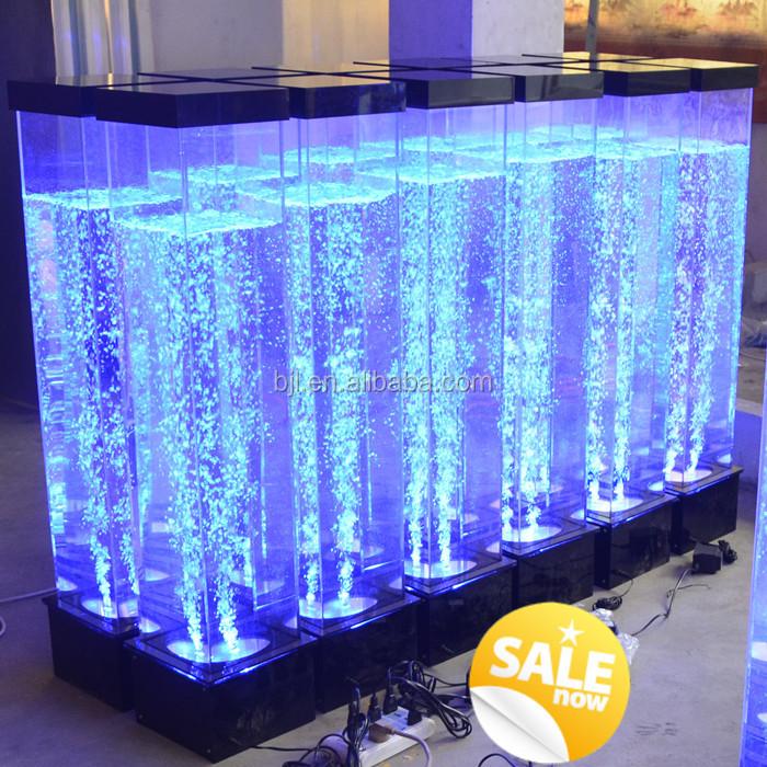 petit d 39 eau de table fontaine lumi re bulle d 39 eau d cor mini led lampe led clairage carr. Black Bedroom Furniture Sets. Home Design Ideas
